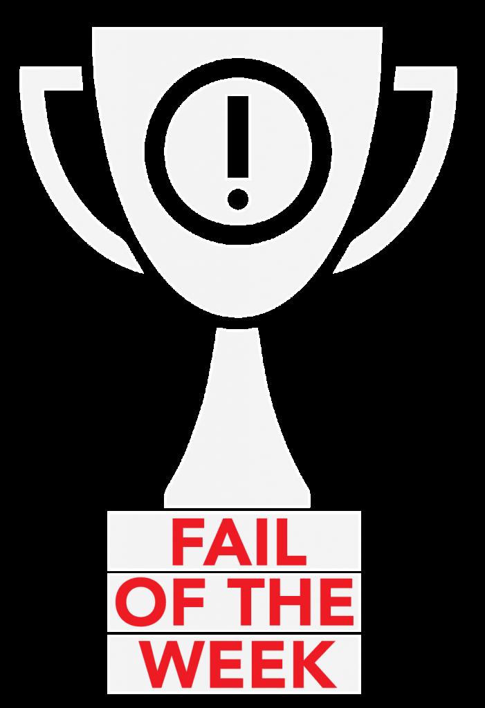 fail of the week - fail týždňa